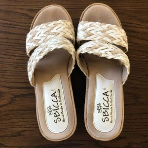 Wedge sandals size 8